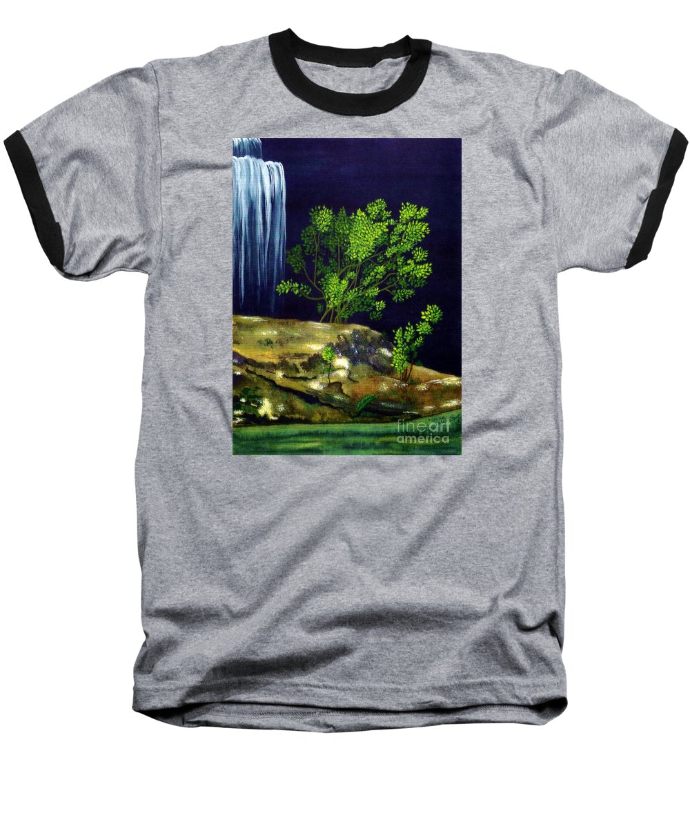 Fine Art Baseball T-Shirt featuring the painting Dark Waters by Patricia Griffin Brett