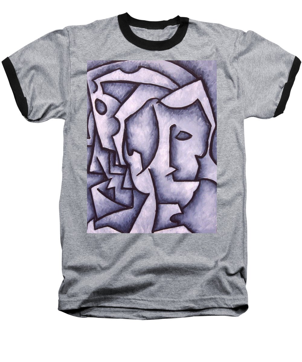 Abstract Baseball T-Shirt featuring the painting David by Thomas Valentine