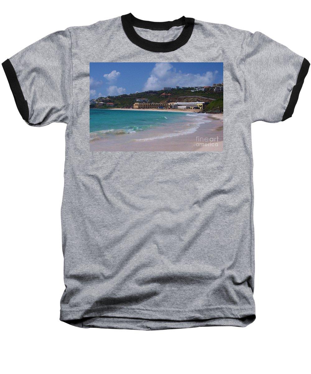 Dawn Beach Baseball T-Shirt featuring the photograph Dawn Beach by Debbi Granruth
