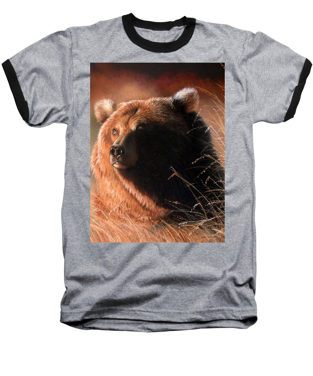 Wildlife Baseball T-Shirt featuring the painting Day Dream by Deb Owens-Lowe