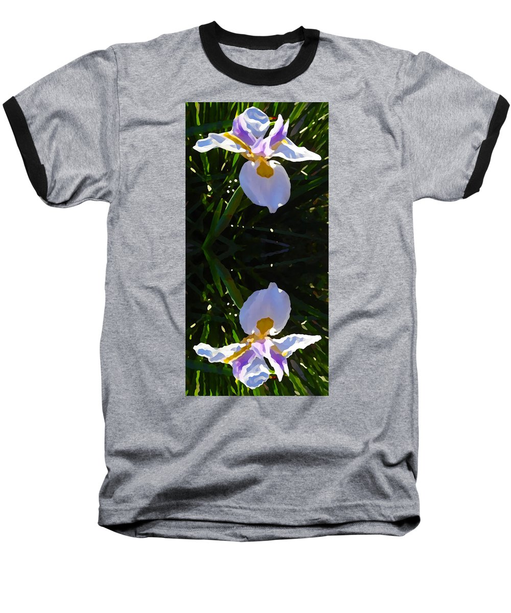 Daylily Baseball T-Shirt featuring the painting Day Lily Reflection by Amy Vangsgard