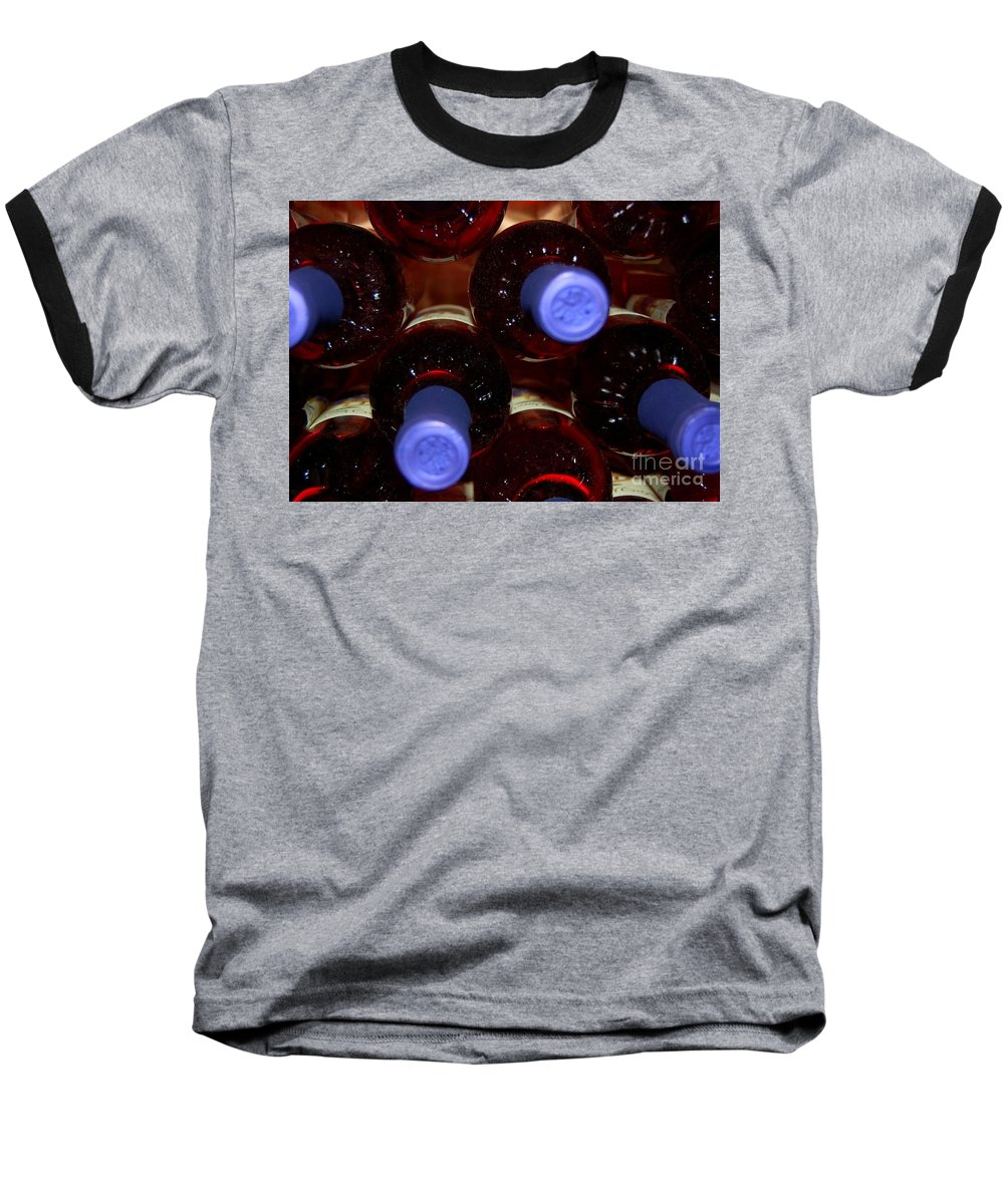 Wine Baseball T-Shirt featuring the photograph De-vine Wine by Debbi Granruth
