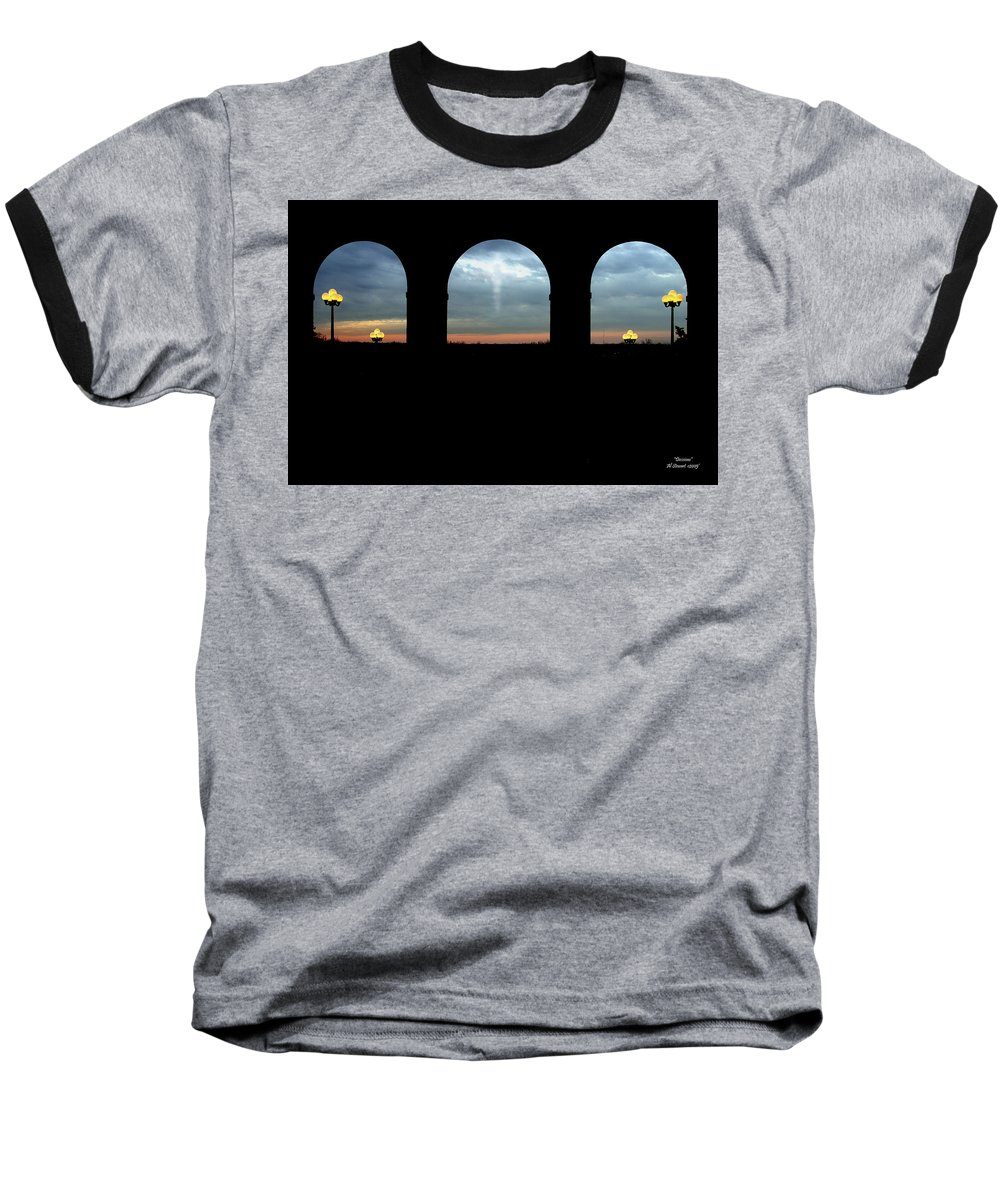 Arch Baseball T-Shirt featuring the photograph Decisions by Albert Stewart