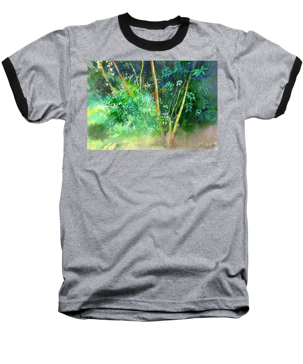 Water Color Baseball T-Shirt featuring the painting Deep by Anil Nene