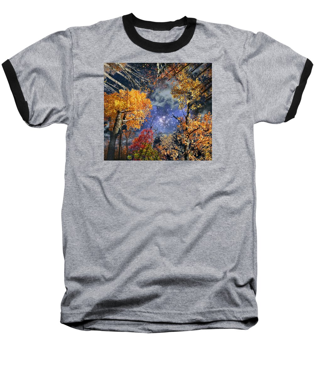 Deep Space Baseball T-Shirt featuring the photograph Deep Canopy by Dave Martsolf