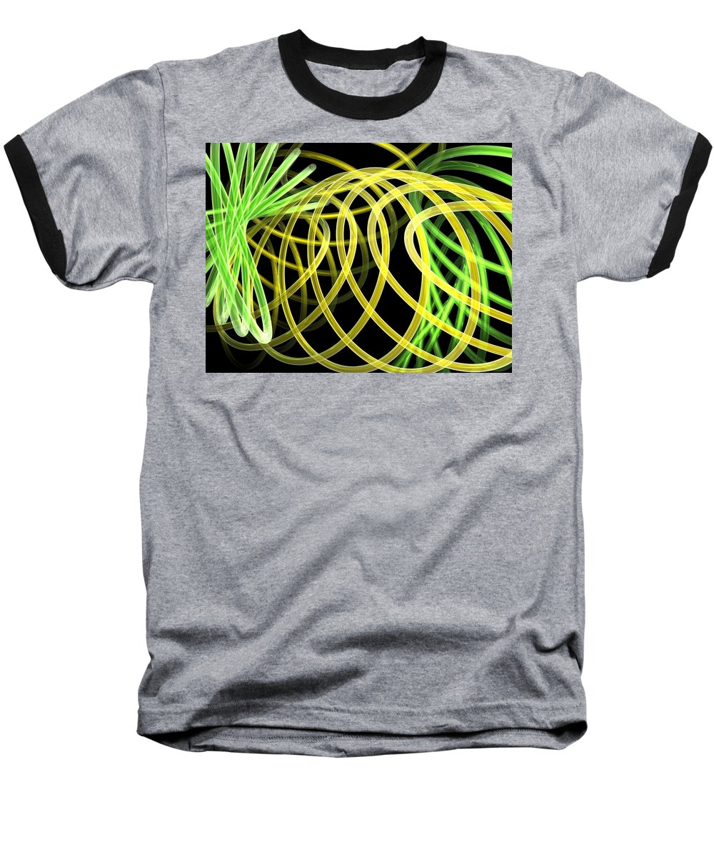Green Baseball T-Shirt featuring the digital art Deep Trance by Scott Piers
