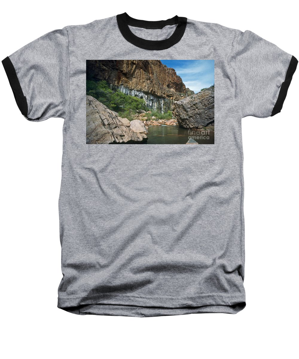 Landscape Baseball T-Shirt featuring the photograph Deep Water by Kathy McClure
