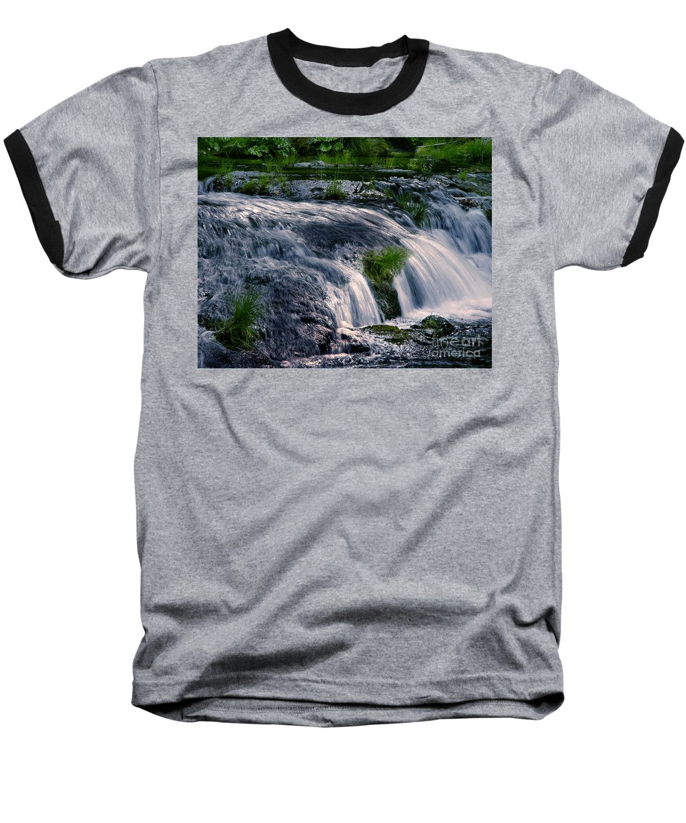 Creek Baseball T-Shirt featuring the photograph Deer Creek 01 by Peter Piatt