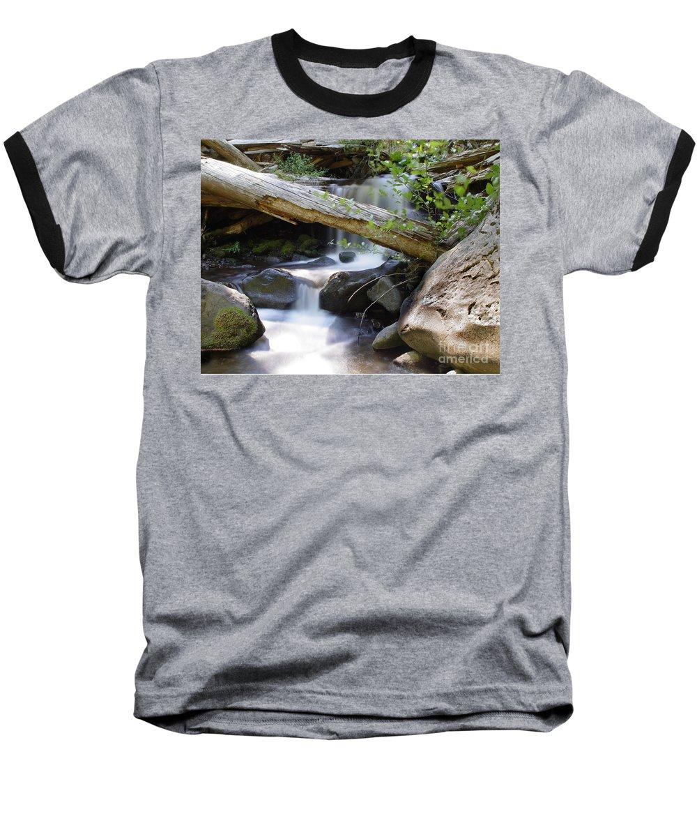 Creek Baseball T-Shirt featuring the photograph Deer Creek 03 by Peter Piatt