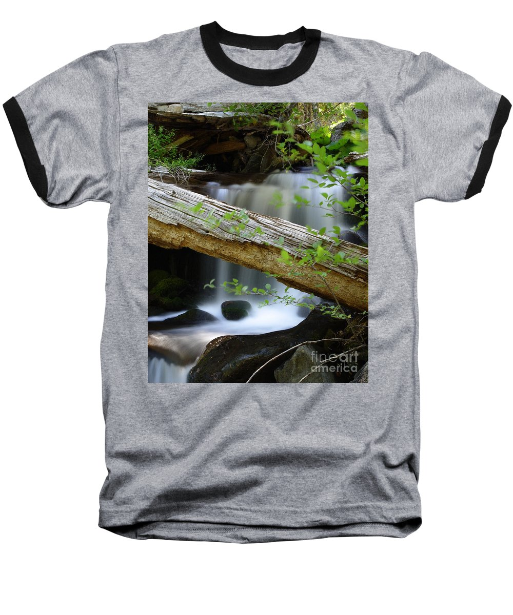 Creek Baseball T-Shirt featuring the photograph Deer Creek 13 by Peter Piatt