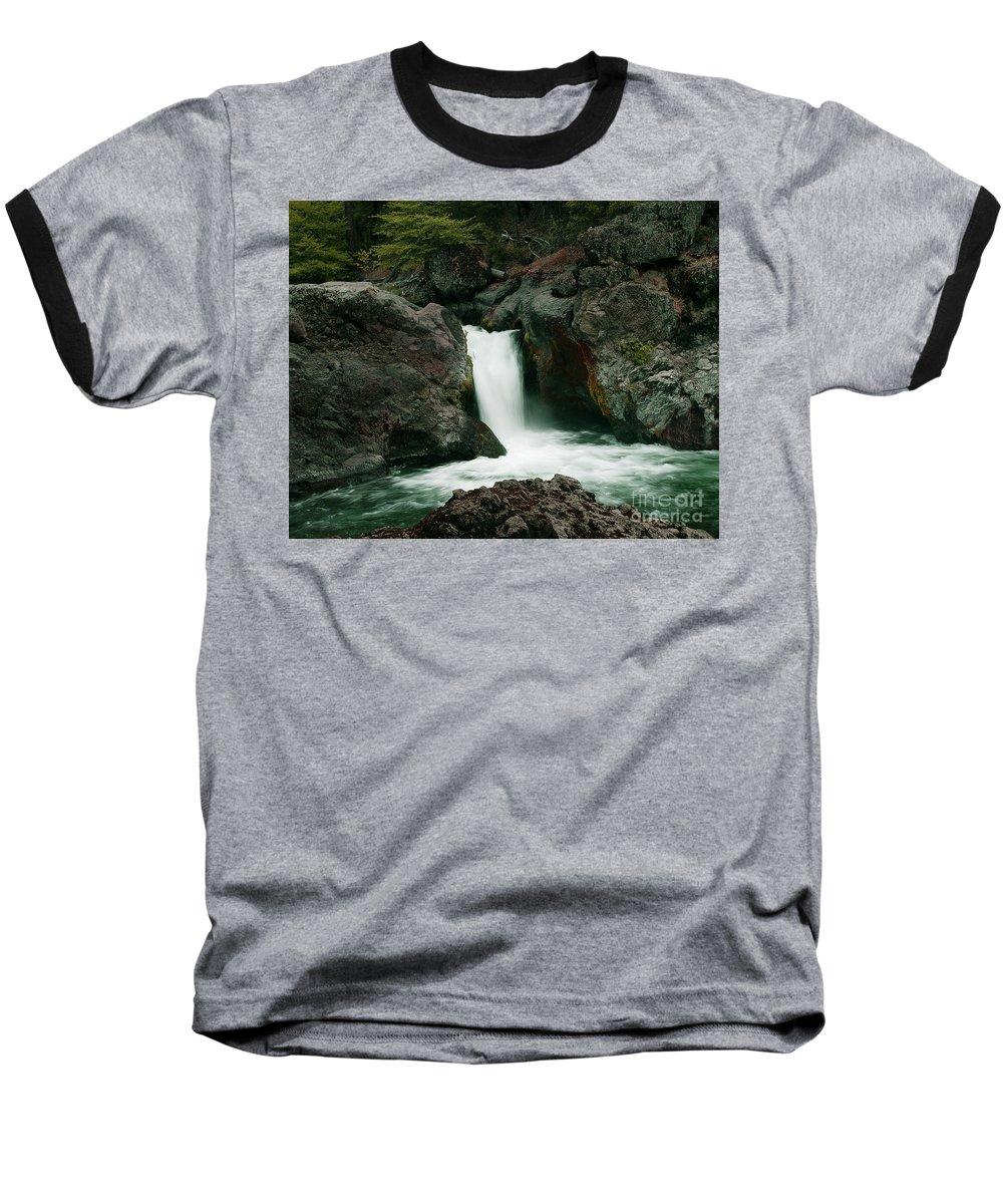 Creek Baseball T-Shirt featuring the photograph Deer Creek Falls by Peter Piatt
