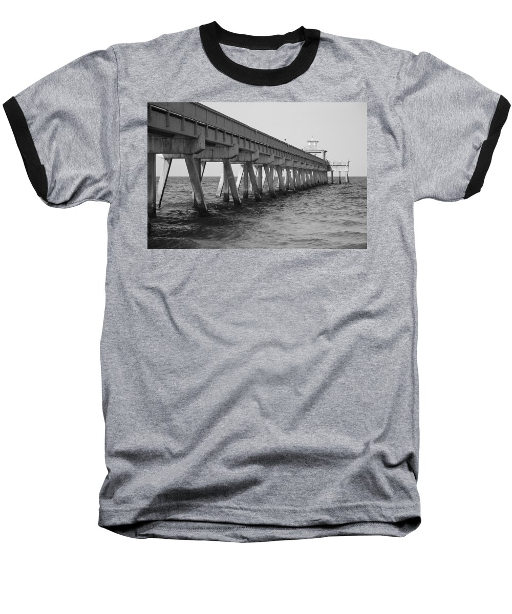 Architecture Baseball T-Shirt featuring the photograph Deerfield Beach Pier by Rob Hans