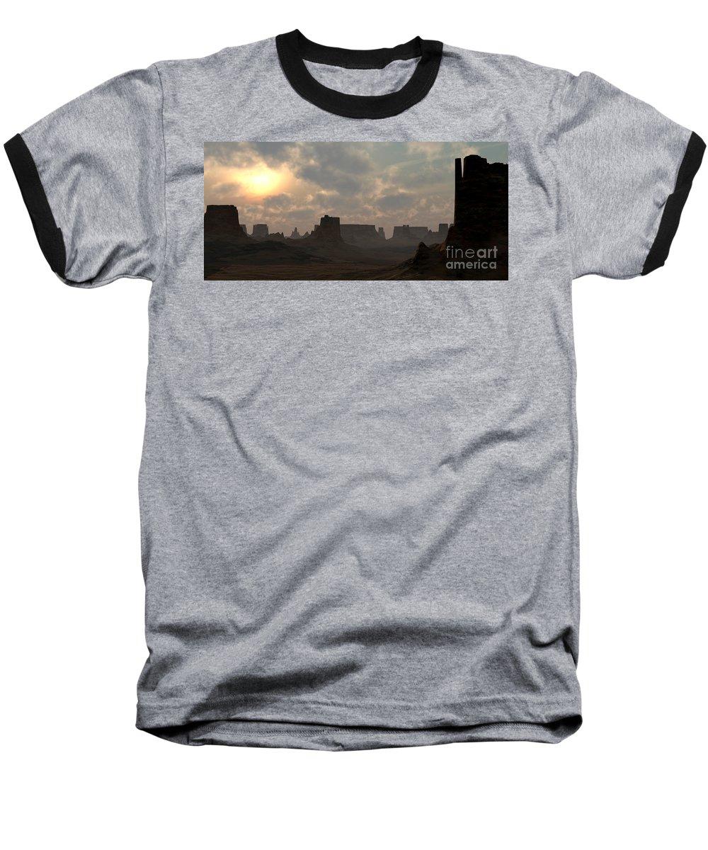 Desert Baseball T-Shirt featuring the digital art Desert Morning by Richard Rizzo