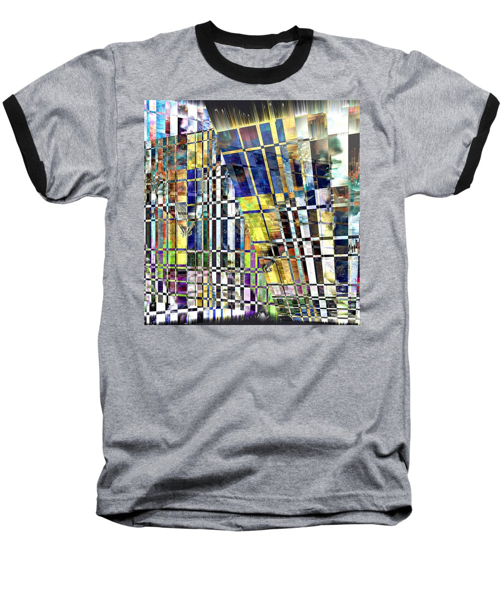 Abstract Baseball T-Shirt featuring the digital art Desperate Reflections by Seth Weaver