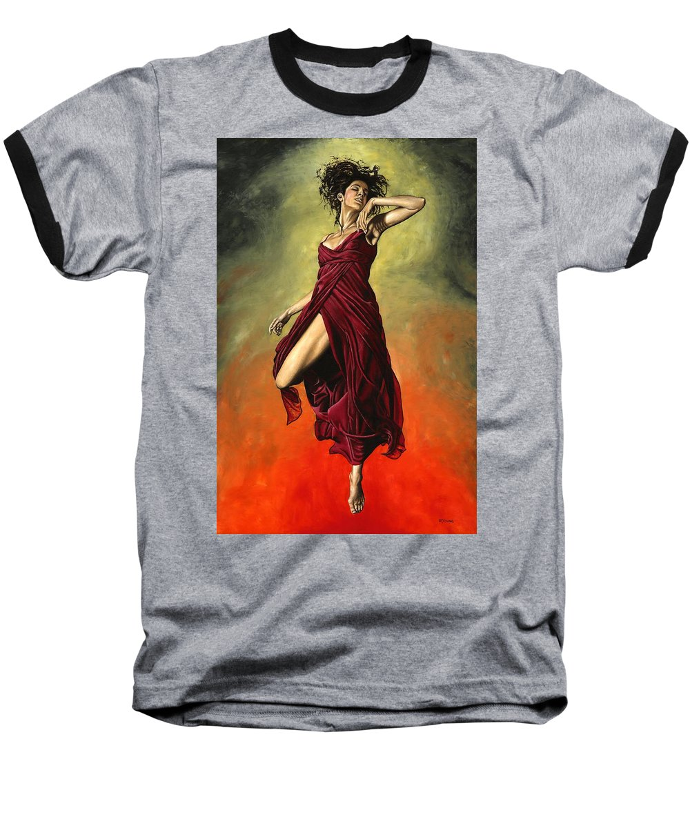 Dance Baseball T-Shirt featuring the painting Destiny's Dance by Richard Young