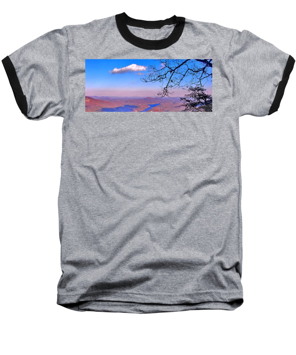 Landscape Baseball T-Shirt featuring the photograph Detail From Reaching For A Cloud by Steve Karol