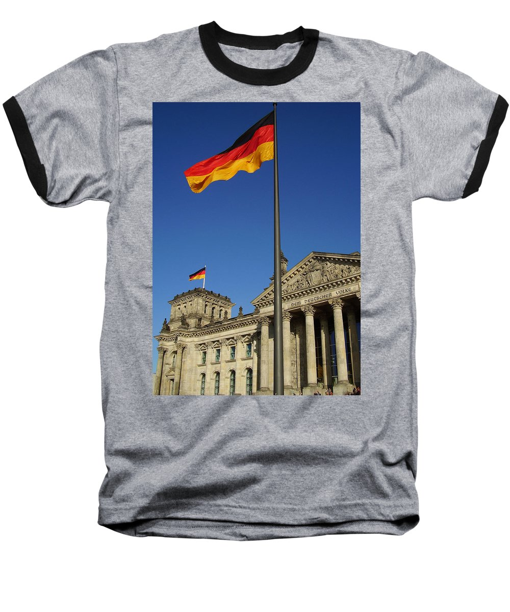 Deutscher Bundestag Baseball T-Shirt featuring the photograph Deutscher Bundestag by Flavia Westerwelle