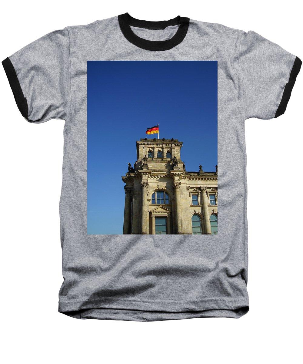 Deutscher Bundestag Baseball T-Shirt featuring the photograph Deutscher Bundestag II by Flavia Westerwelle