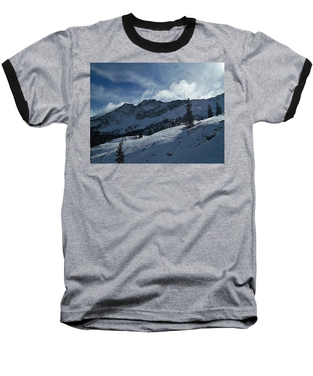 Ski Baseball T-Shirt featuring the photograph Devils Castle Morning Light by Michael Cuozzo