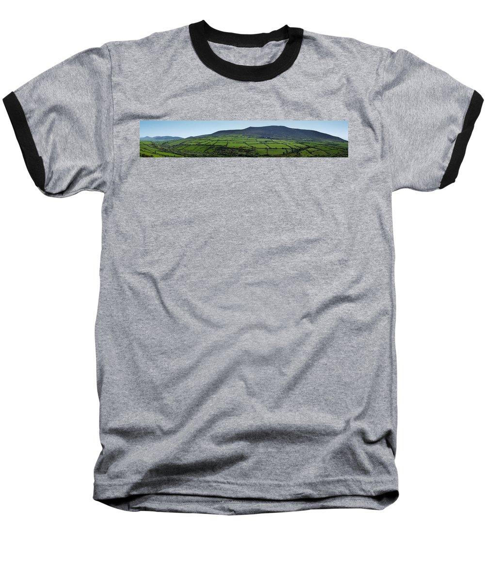 Irish Baseball T-Shirt featuring the photograph Dingle Peninsula Panorama Ireland by Teresa Mucha