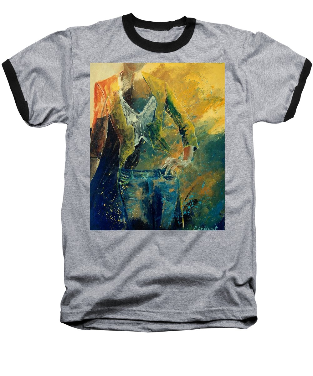 Woman Girl Fashion Baseball T-Shirt featuring the painting Dinner Jacket by Pol Ledent