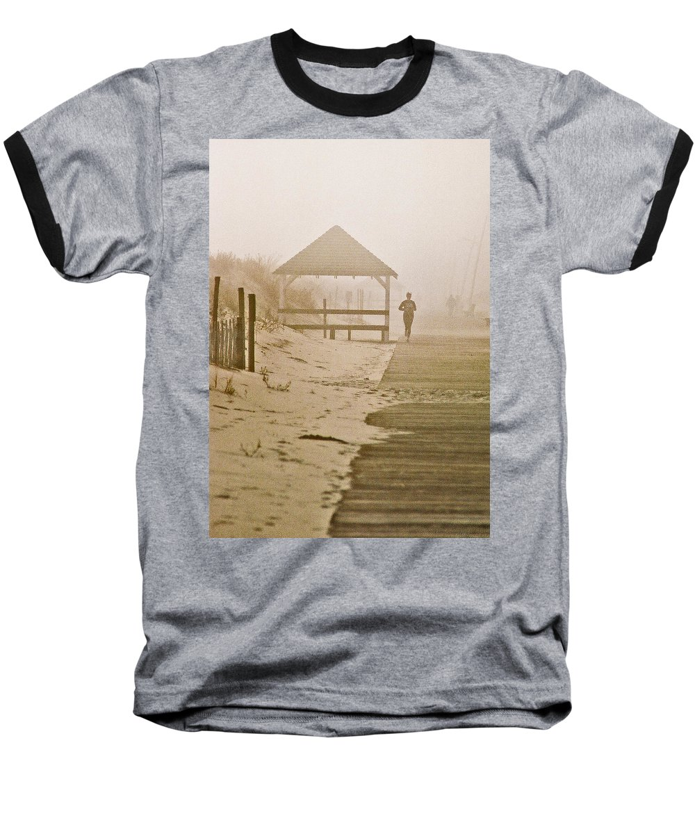 Landscape Baseball T-Shirt featuring the photograph Disappearance by Steve Karol