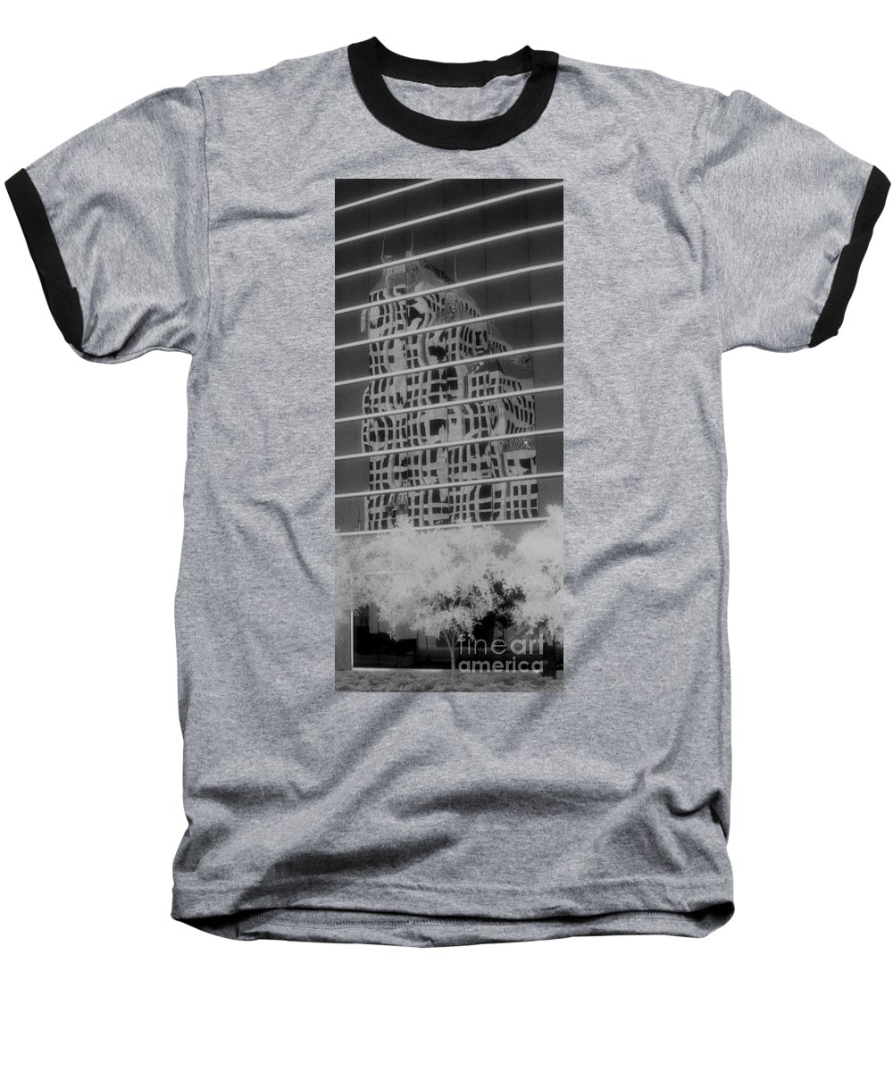 Distorted Baseball T-Shirt featuring the photograph Distorted Views by Richard Rizzo
