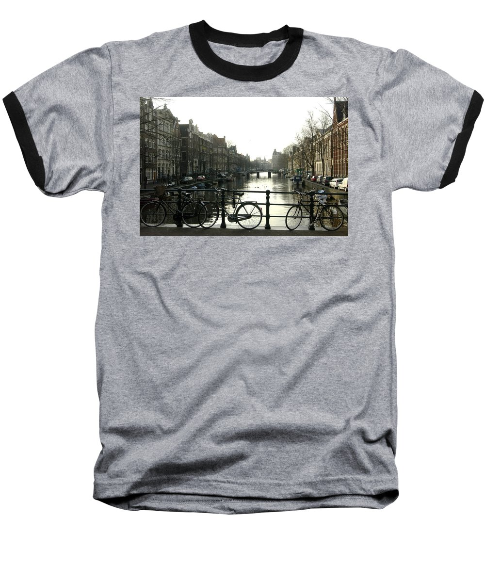 Landscape Amsterdam Red Light District Baseball T-Shirt featuring the photograph Dnrh1103 by Henry Butz