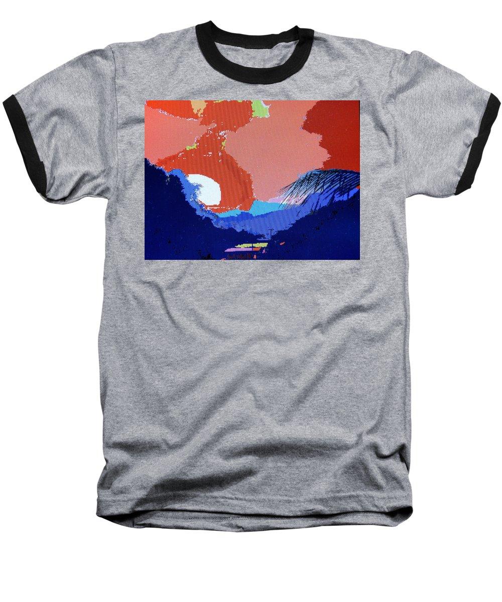 Digital Art Baseball T-Shirt featuring the photograph Dominican Sunset by Ian MacDonald