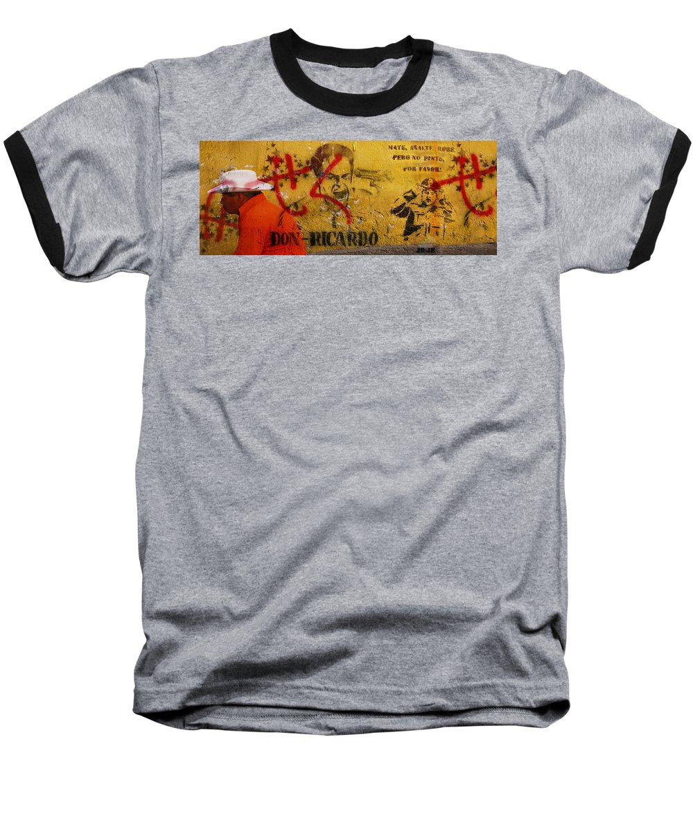 Grafitti Baseball T-Shirt featuring the photograph Don-ricardo by Skip Hunt