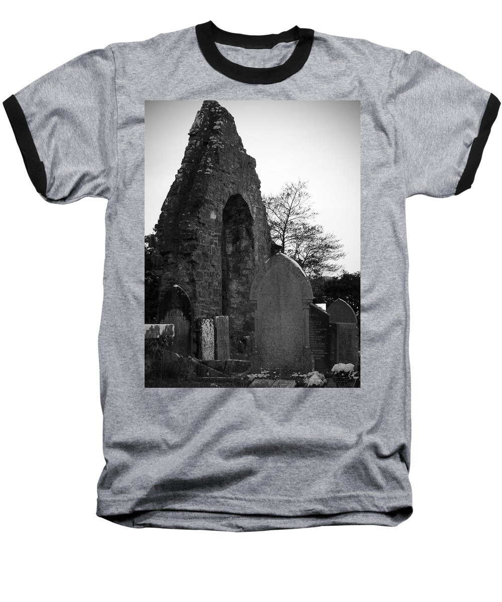 Irish Baseball T-Shirt featuring the photograph Donegal Abbey Ruins Donegal Ireland by Teresa Mucha