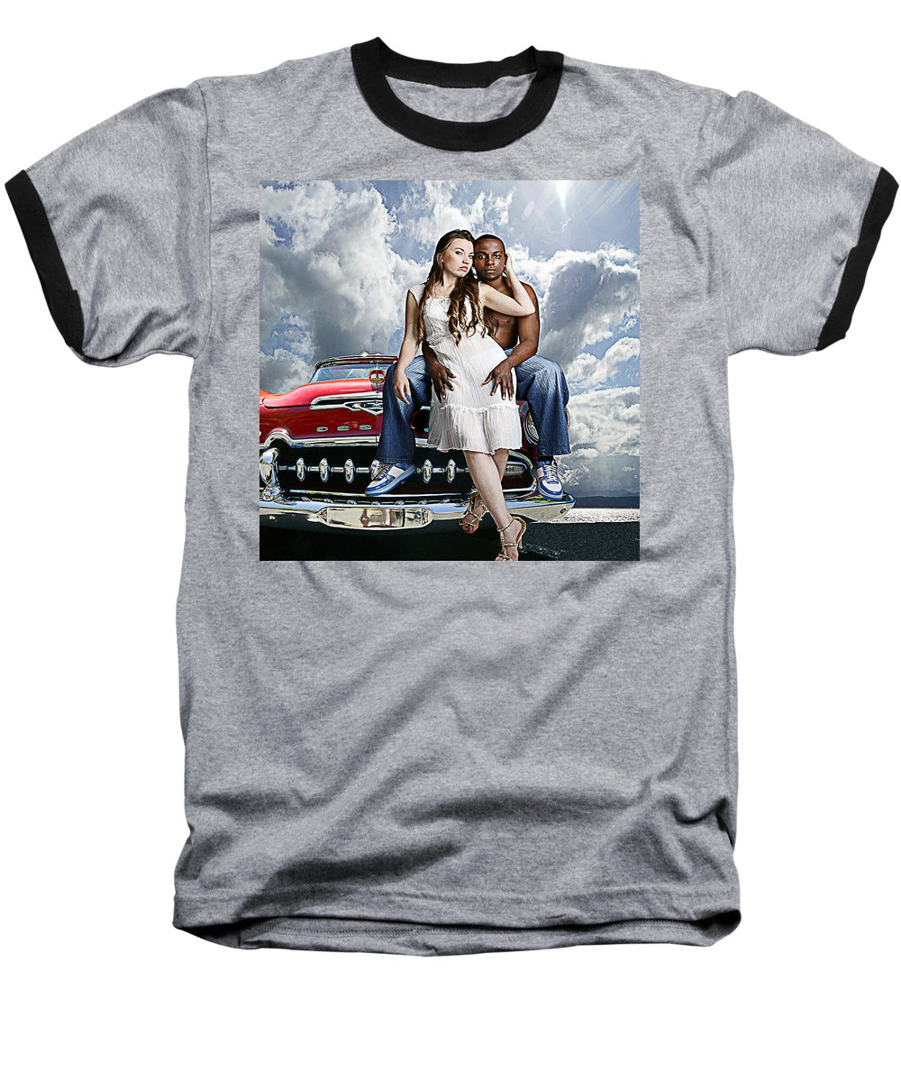 Auto Baseball T-Shirt featuring the photograph Downtown by Jeff Burgess
