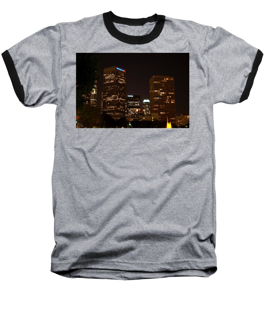 Clay Baseball T-Shirt featuring the photograph Downtown L.a. In Hdr by Clayton Bruster
