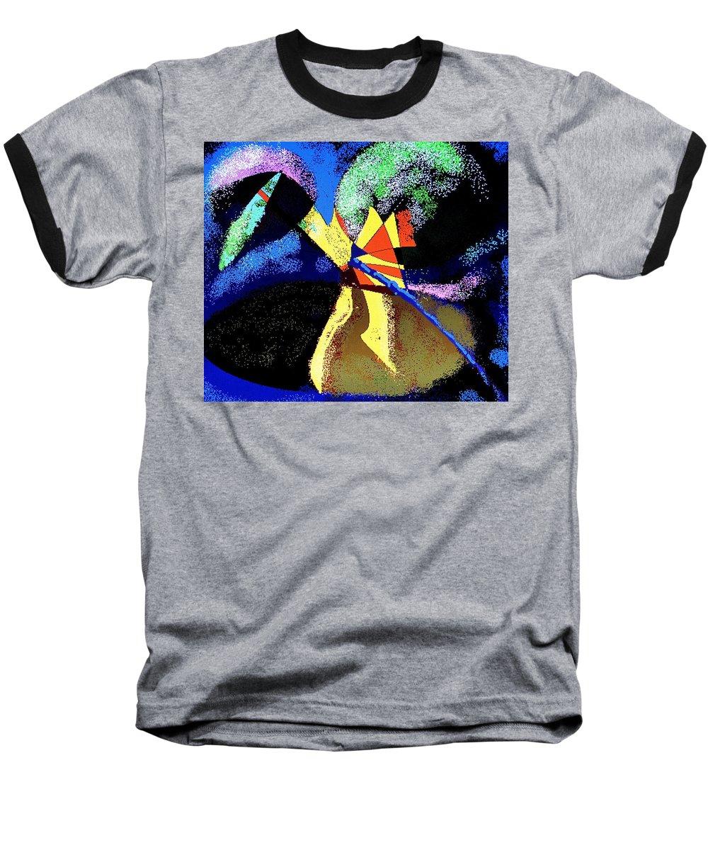 Digital Drawing Baseball T-Shirt featuring the digital art Dragon Killer by Ian MacDonald
