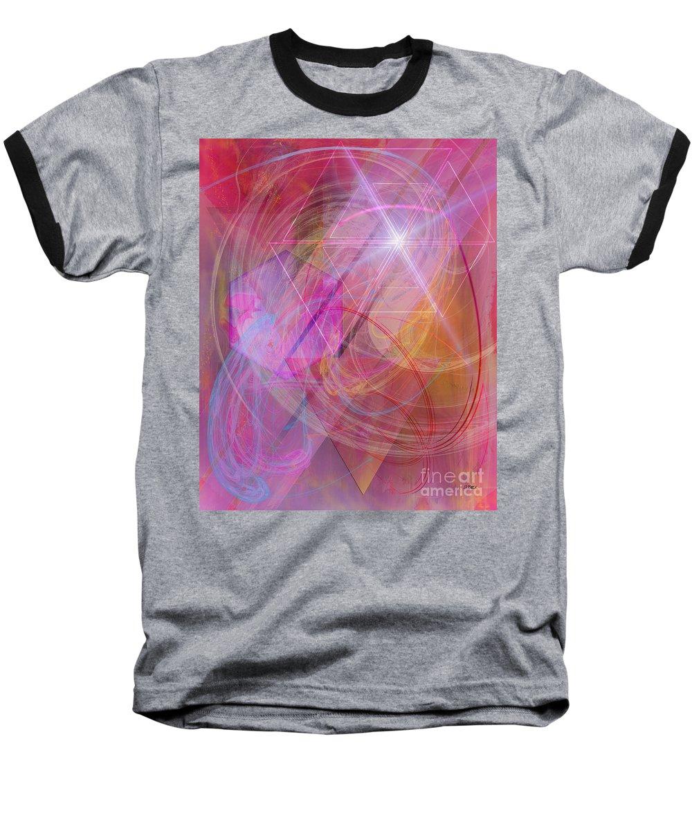 Dragon's Gem Baseball T-Shirt featuring the digital art Dragon's Gem by John Beck