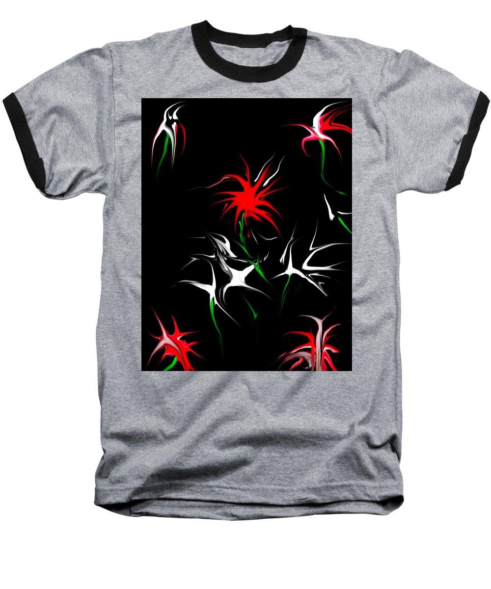 Abstract Baseball T-Shirt featuring the digital art Dream Garden II by David Lane