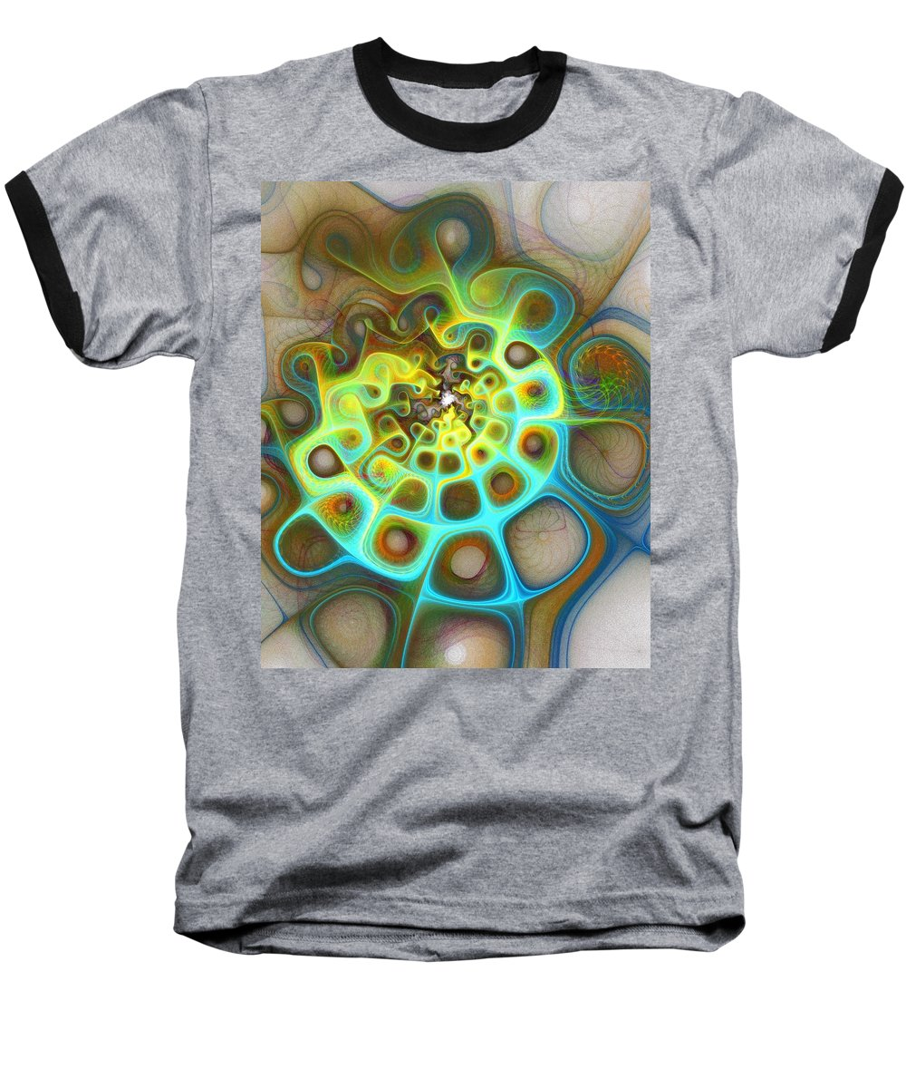 Digital Art Baseball T-Shirt featuring the digital art Dreamscapes by Amanda Moore
