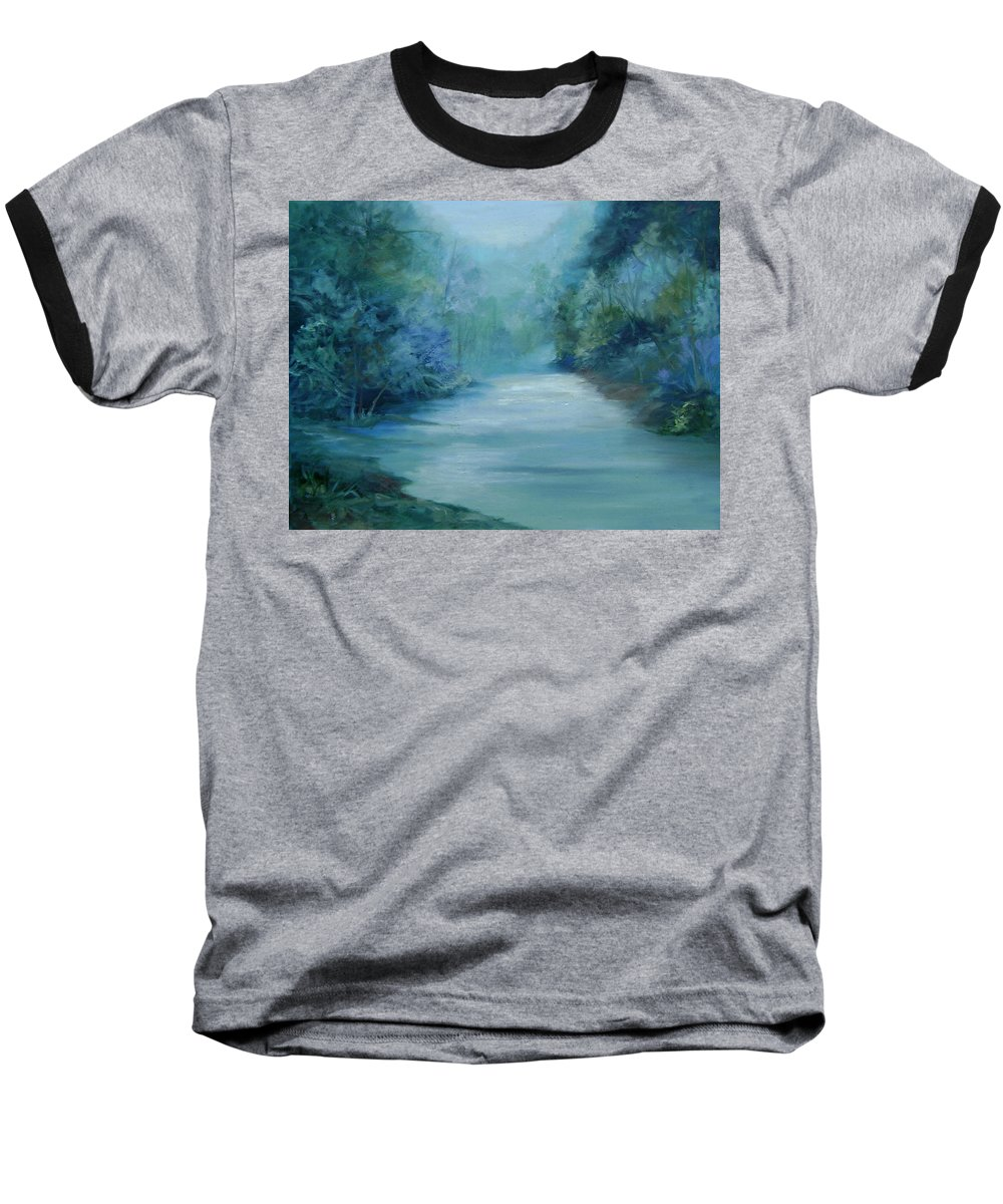 Burton River Georgia Baseball T-Shirt featuring the painting Dreamsome by Ginger Concepcion