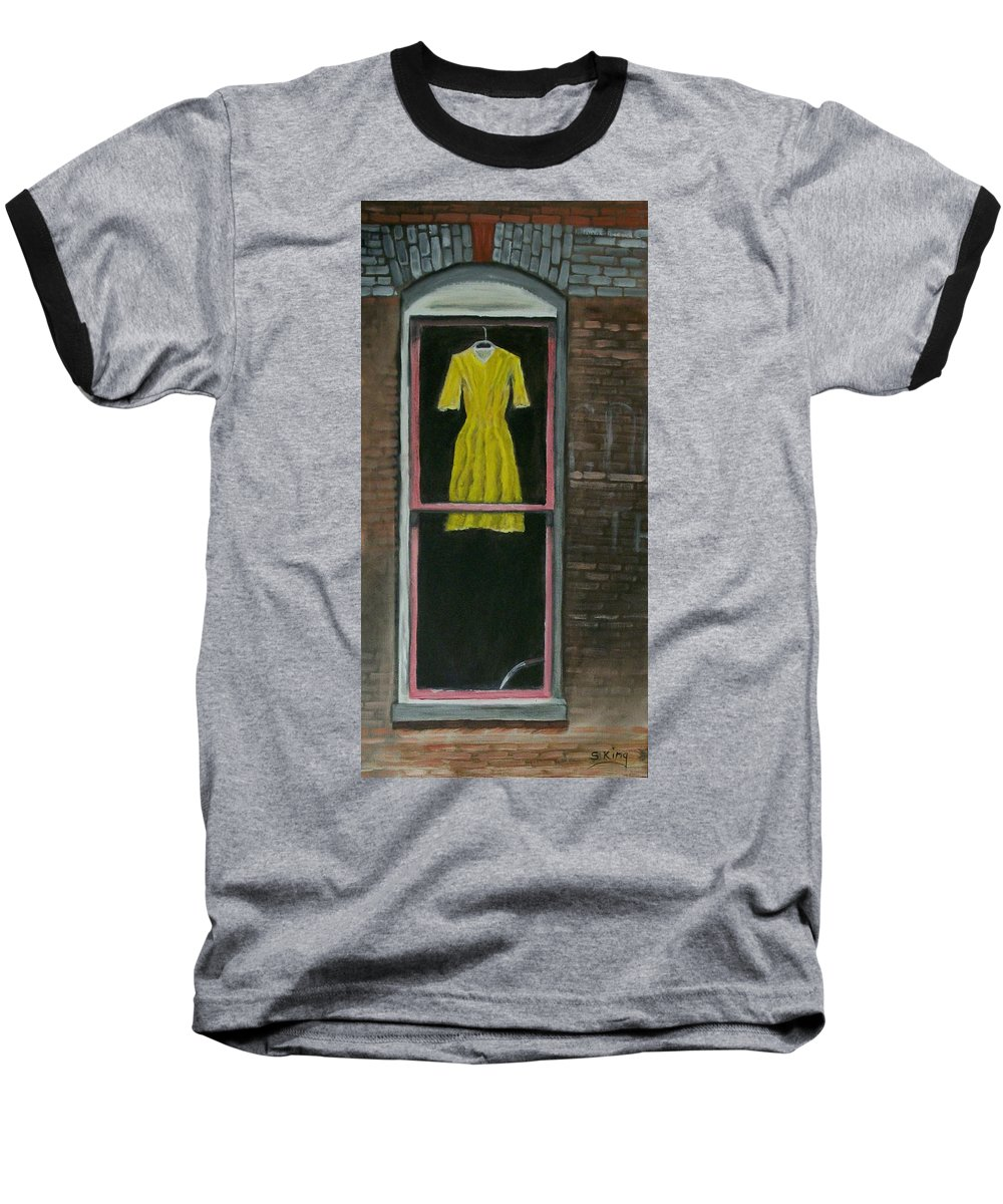 Original Baseball T-Shirt featuring the painting Dress Up by Stephen King