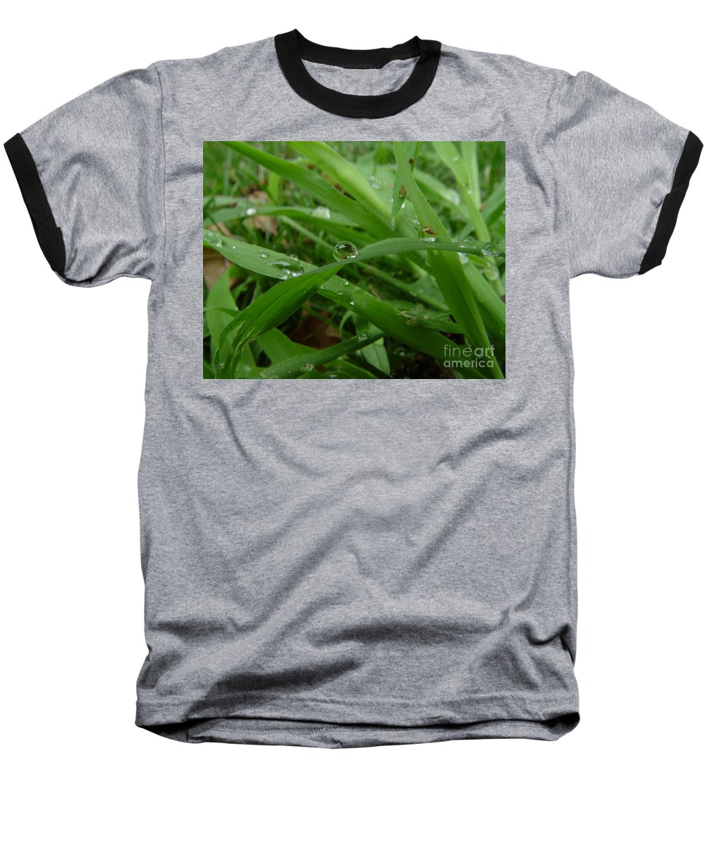 Water Droplet Baseball T-Shirt featuring the photograph Droplets 01 by Peter Piatt
