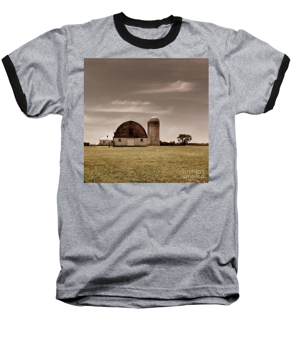 Farm Baseball T-Shirt featuring the photograph Dry Earth Crumbles Between My Fingers And I Look To The Sky For Rain by Dana DiPasquale