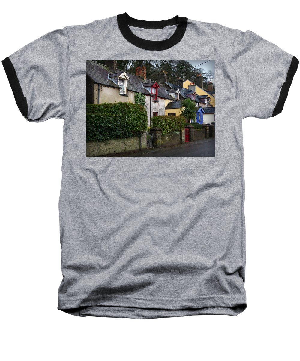 Ireland Baseball T-Shirt featuring the photograph Dunmore Houses by Tim Nyberg
