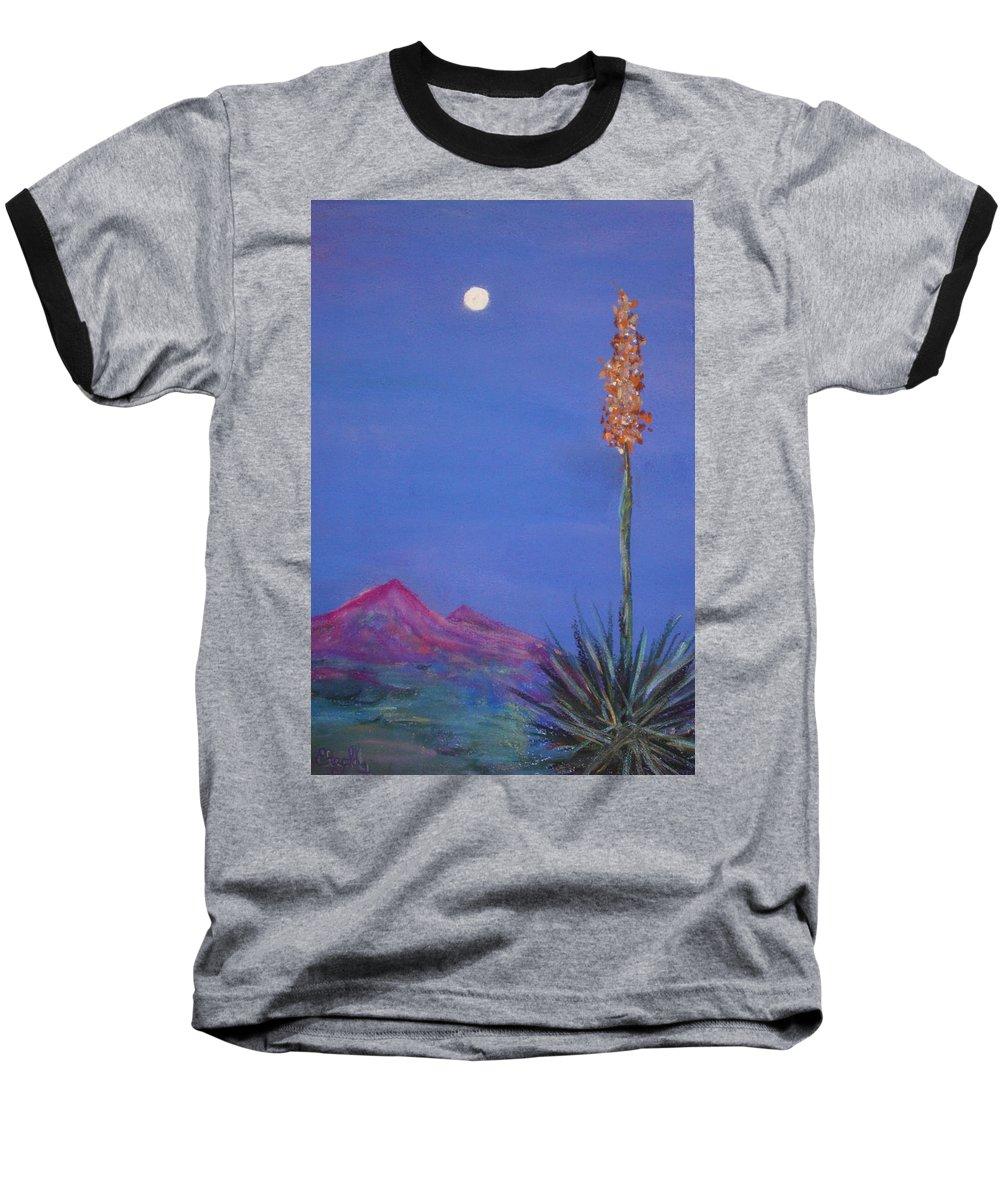 Evening Baseball T-Shirt featuring the painting Dusk by Melinda Etzold
