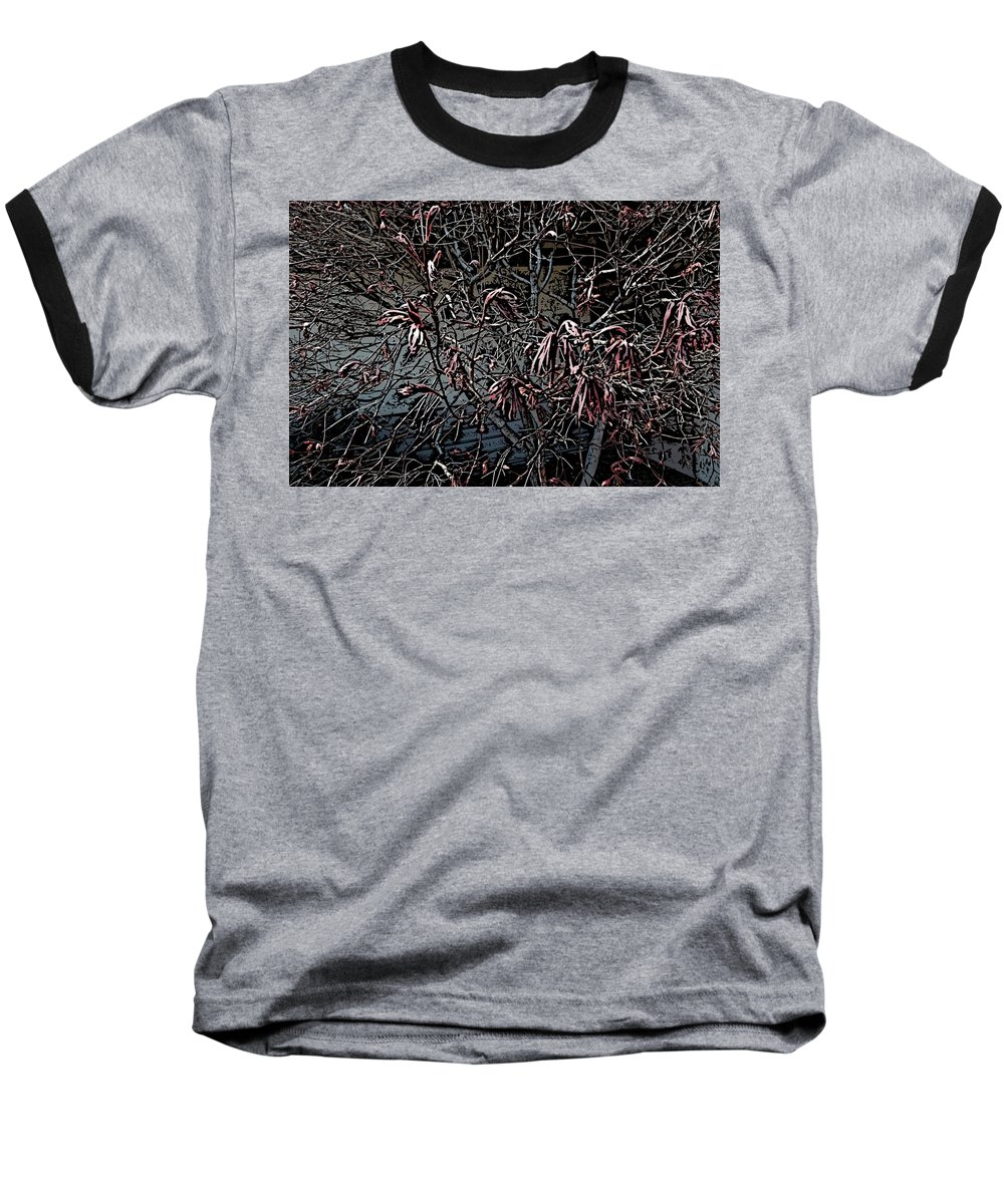 Digital Photography Baseball T-Shirt featuring the digital art Early Spring Abstract by David Lane