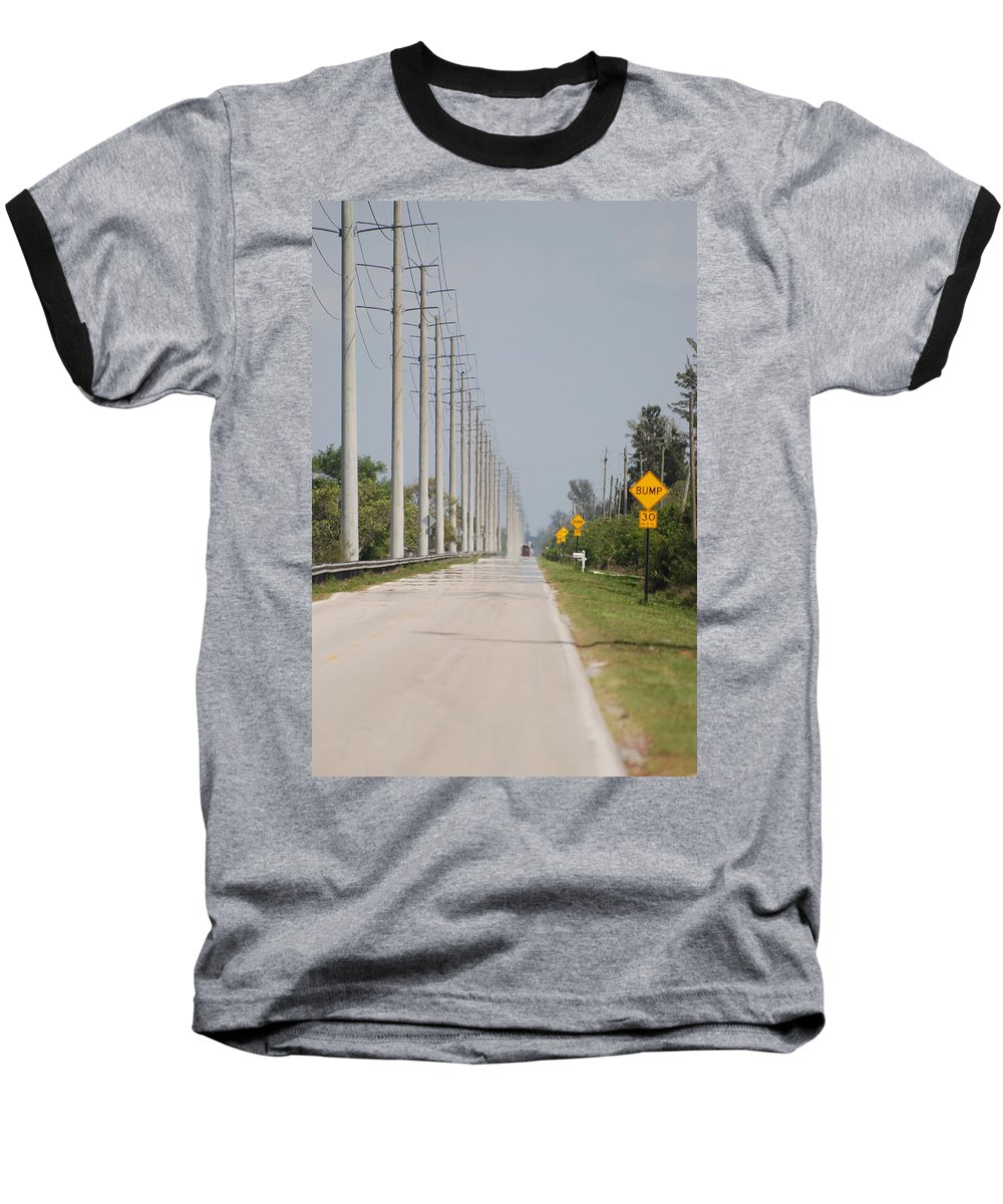 Trees Baseball T-Shirt featuring the photograph East Bound And Down by Rob Hans