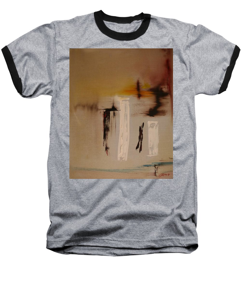 Abstract Baseball T-Shirt featuring the painting Easy by Jack Diamond
