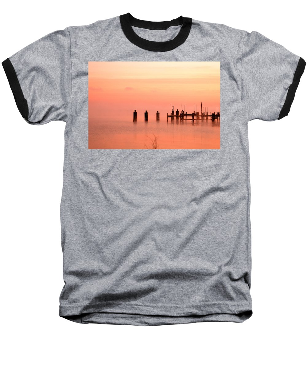Clay Baseball T-Shirt featuring the photograph Eery Morn by Clayton Bruster
