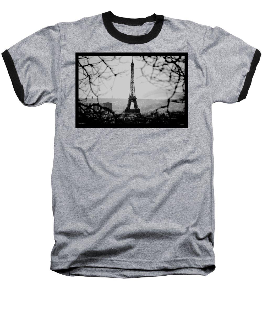Eiffel Baseball T-Shirt featuring the photograph Eiffel Eyeful by J Todd