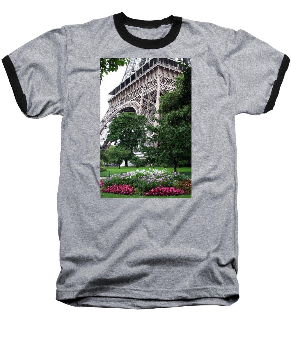 Eiffel Baseball T-Shirt featuring the photograph Eiffel Tower Garden by Margie Wildblood