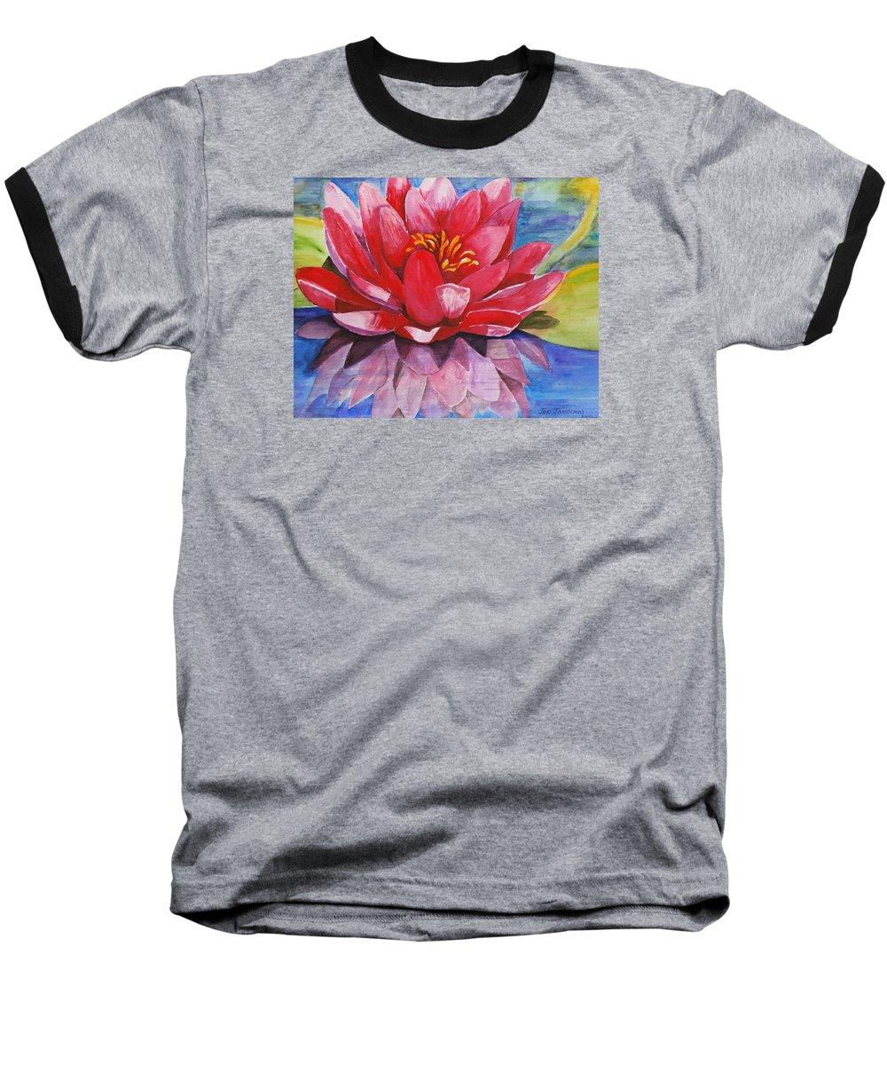 Lily Baseball T-Shirt featuring the painting Ela Lily by Jun Jamosmos